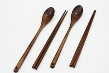 Wooden Spoon and Chopstick Set 2 Spoons and 2 Chopsticks (TOTAL: 4PCS) - 11 inch