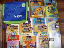 Lot LEAPFROG Bag + 12 Books & Cartridges Disney Princess NEW Nemo Phonics