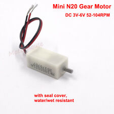 DC 3V-6V Mini Micro N20 Metal Gear Motor Large Torque Cover Dust Water Protected