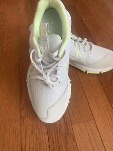 New Women's Nike Explorer 2 Golf Shoes Platinum/Volt AA1846-001 -Size 7