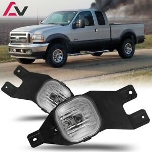 99-04 For Ford F-Series Clear Lens Pair Bumper Fog Light Lamp Replacement