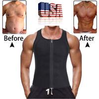 Stomach Belly Men's Shaper Slimmer T Shirt Vest Cami Fajas Trimmer Trainer Belt