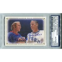 Gordie Howe And Bobby Hull Autographed 2008 Upper Deck Card (PSA/DNA)