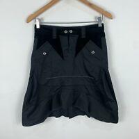 Marithe Francois Girbaud Womens Skirt 12 Black A-Line