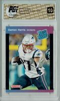 Damien Harris 2019 Donruss #25 PRISTINE Rated Retro 1/280 Rookie Card PGI 10