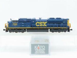 N Scale KATO 176-8437 CSX Transportation SD70ACe Diesel Locomotive #4850