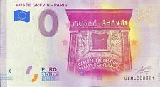 BILLET 0  EURO MUSEE GREVIN PARIS FRANCE   2020 NUMERO DIVERS