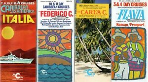 4 Costa Brochures-ITALIA, CARLA C, FEDERICO C, FLAVIA- NAUTIQUES sHiPs WORLDWIDE