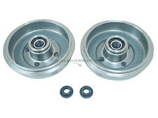 REAR 2 BRAKE DRUMS + 2 FITTED WHEEL BEARINGS + HUB NUTS NEW FOR MAZDA 2 02-07