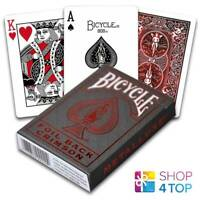 BICYCLE FOIL METAL LUXE RED NEW EDITION RIDER BACK PLAYING CARDS DECK USPCC NEW