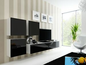 Vilado 23 - wall mounted tv unit / entertainment unit / universal tv stand