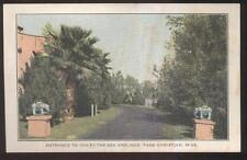 POSTCARD PASS CHRISTIAN MS/MISSISSIPPI INN BY THE SEA ENTRANCE GATE