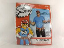 Duff Beer Hat & Belt The Simpsons Logo Homer Simpson Cap Halloween Costume B5