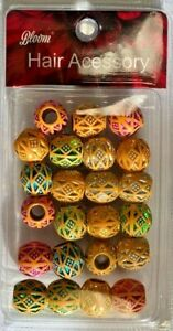 Hair Accessories: Wooden Beads For Hair MULTI ASSORTED COLORS  WD004