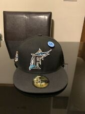 Florida Marlins 2003 World Series New Era Fitted Hat Club Icy Blue UV Cap 7 5/8