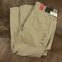 NWT Levi's 514 men's athletic fit jeans 38 x 32 tag twill straight leg beige new