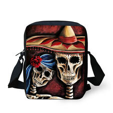 Fashion Skull Women's Small Messenger Bag Handbag Purse Kids Cross-body Bag