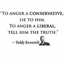 Conservative QUO ROOSEVELT ANGER A LIBERAL TELL THE TRUTH Political Shirt