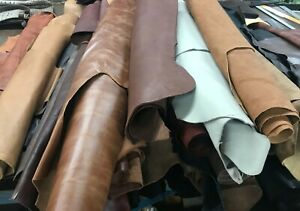 whole leather hide - full cowhide - approximately 49 SF.  Various Colors