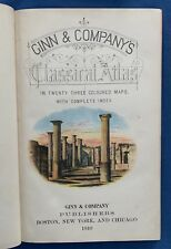 1910 Ginn & Company's Classical Color Atlas 23 Maps Geography Ancient World Book