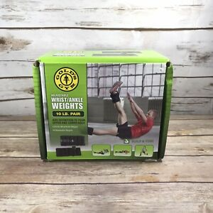 Gold's Gym 10lbs Wrist & Ankle Weights Adjustable Fitness Exercise Home Gym Walk