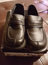 9a3f03244f7 Women s DKNY Black Leather Loafers Size 7 ...