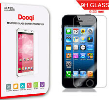 3X Dooqi Premium Tempered Glass Screen Protector for iPhone 5 5S 5C SE