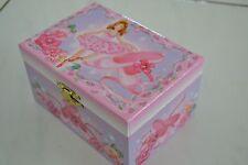 Girls Ballerina Jewellery Musical Music Box 3 Ballet Dancers Flower Girl Gift