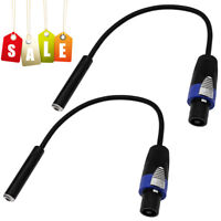 """Quality 12 Gauge Compatible Speaker Connector Male to 1/4"""" Female Cable Adapter"""