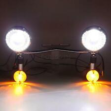 Motorcycle Passing Auxiliary Fog lights lamp fit for Choppber Bobber Cruiser