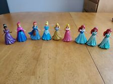 Polly Pocket Lot of (9) different Disney Princesses with Magi-Clip clothing