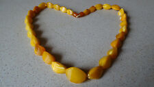 Antique Butterscotch Natural BALTIC AMBER Necklace (43 gr, 58 cm) =Made in USSR=