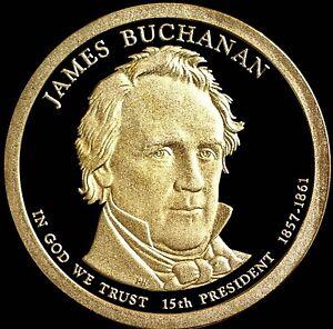 "2010 S James Buchanan Presidential Dollar Gem Deep Cameo ""PROOF"" US Mint Coin"