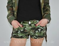 ♥sexy Militär ARMY Shorts Camouflage Bermuda kurze Hose Stoff Gr.XS S M L XL