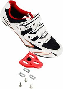 Venzo Bicycle Men's Road Cycling Riding Shoes  3 Straps Compatible with Peloton
