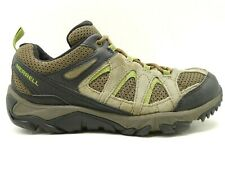 Merrell Brown Green Leather Mesh Athletic Lace Up Trail Hiking Shoes Men's 7.5