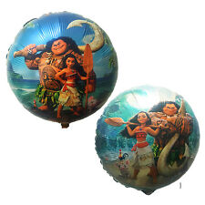 "Moana 2-sided foil balloon 44cm or 17.5"" inches round Disney princess Vaiana"