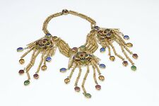 Miriam Haskell 1950's Etruscan Revival Style  Necklace Earrings Set