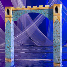 Fairytale Castle Arch gold swirls background Cardboard Cutout Standee