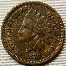 1878 Indian Head Small Cent * Better Date Coin * Awesome Wood-Grain Tone