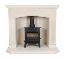 THE KENT MULTI FUEL LIMESTONE  STONE FIREPLACE / FIRE PLACE SURROUND