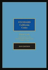 Standard California Codes: Penal Code With Evidence Code, 2019 Edition