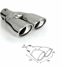 Akhan-tuning Exhaust Tailpipe polished stainless steel Sound Sport D = 32-50 MM
