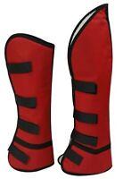 Set of 4 Showman RED Cordura Nylon Horse Shipping Boots! NEW HORSE TACK!
