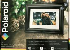 "Polaroid - PDF-750W - 7"" Digital Photo Frame Screen - Black"
