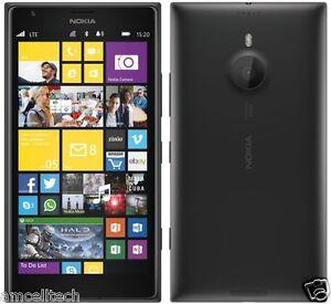 "Nokia Lumia 1520 BLACK AT&T Windows 8 LTE 16GB 20MP 6"" Screen Smartphone GREAT"