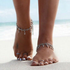 Bracelet Anklet foot Chain Belly Dance Silver Gold Gypsy Indian Bell Charm Ankle