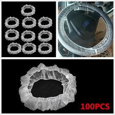 100 Pcs Disposable Car SUV 38cm Diameter Steering Wheel Protector Elastic Covers