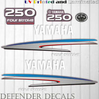 Yamaha 250HP Four Stroke outboard engine decal sticker Graphic kit reproduction