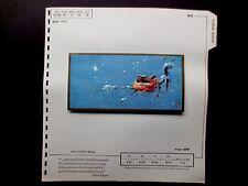 Disney Artist Tyrus Wong 1959 Sample Xmas Greeting Card Watching Star from Nest